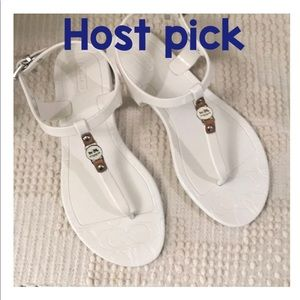 Coach Picadilly sandals size 6 white